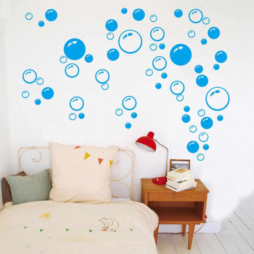 Pegatinas de burbujas de pared extraíbles para baño, pegatinas de vidrio impermeables, pegatinas de ventana para niños, habitación, cocina, adhesivo DIY