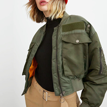Autumn winter bomber jacket women coat army green pocket design zipper with inside cotton Za style Casual casacas mujer jaqueta automatic glass home auto door warning caution decal business car sticker for bmw ford honda vw skoda seat mazda toyota nissan
