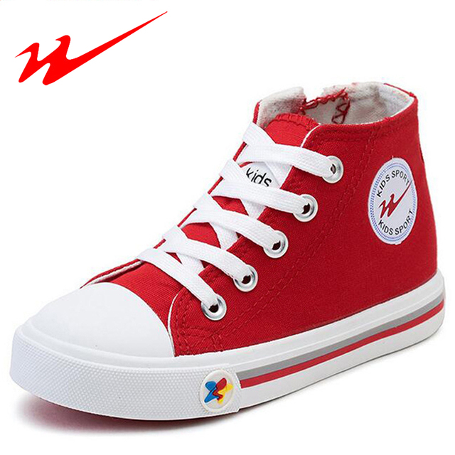 DOUBLE STAR Kid Shoes Solid Color Children Shoes High Top Canvas Big Kid Shoes Outdoor Walking Shoes Boys And Girl Sneakers