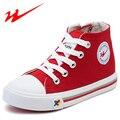 DOUBLE STAR Sapatas Do Miúdo Cor Sólida Crianças Sapatos de Alta Top tela Grande Criança Sapatos de Caminhada Ao Ar Livre Sapatos Meninos E Menina Sneakers