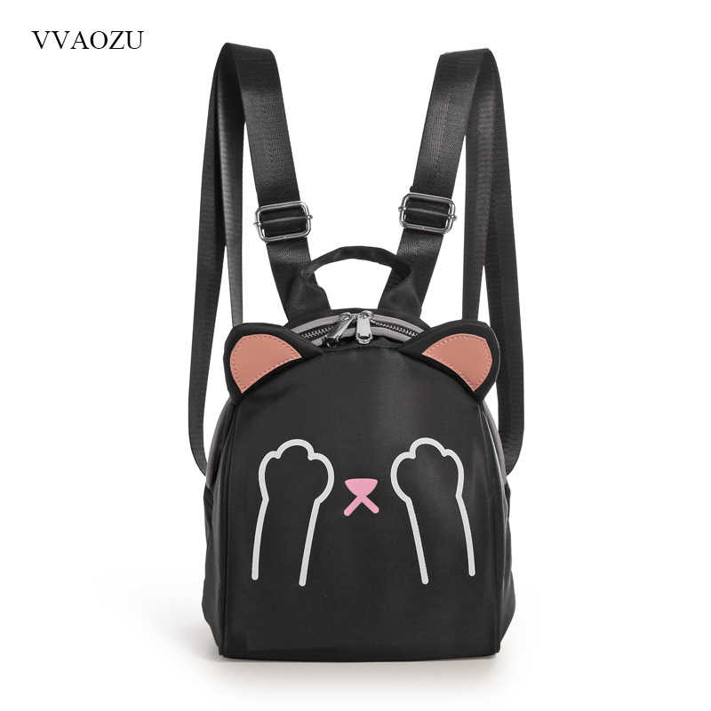 e1b42831962 New Japanese Cute Cat Ears Casual Backpack Mini School Bag Teenage Girls  Bookbag Waterproof Female Student