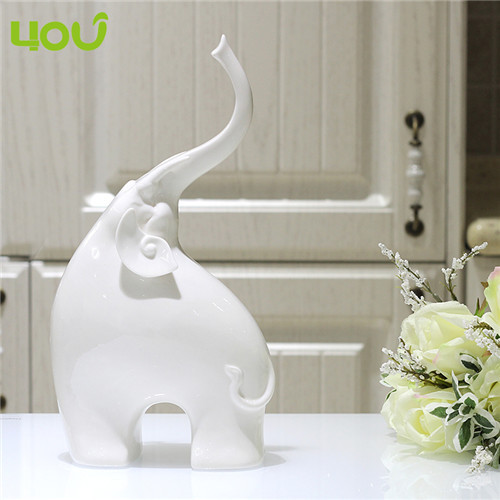 Creative Handmade Modern Home Decor Ceramic Elephant White Figurines Porcelain Decoration In Men S Costumes From Novelty Special Use On