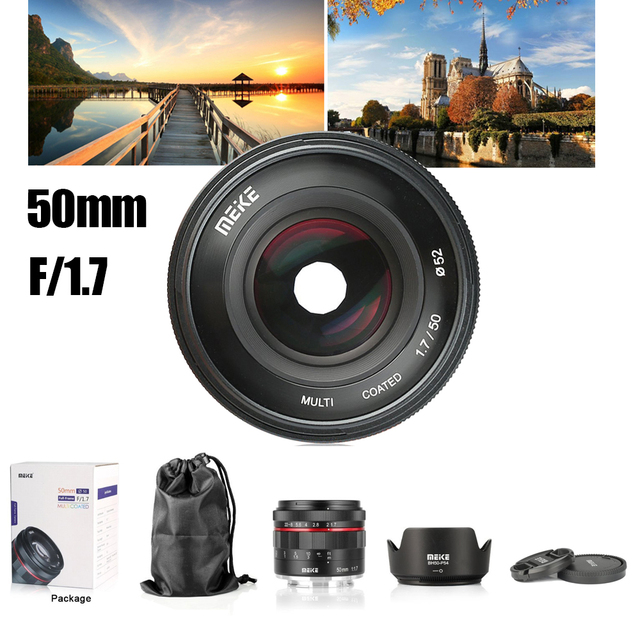 Meike 50mm F1.7 Manual Focus Lens for Sony E mount Full Frame Mirrorless Camera A7II A7RIII for Canon RF Fuji Fujifilm Nikon Z