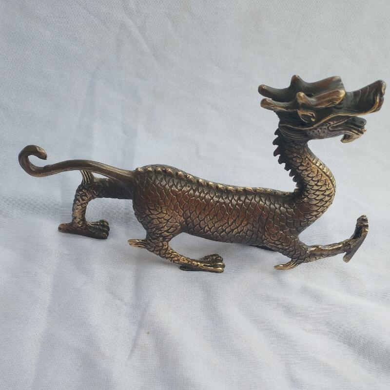 Statue de Dragon en laiton fait main chinois, statue de Collection d'art