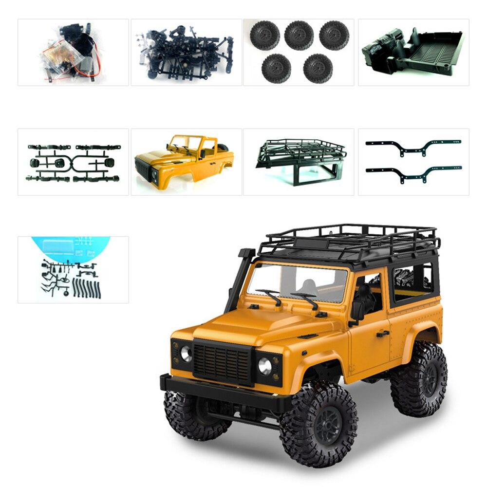 DIY комплект приводной вал электрический RC гоночный пульт дистанционного управления комплект игрушки 1:12 автомобиль 4WD 2,4 ГГц внедорожный игрушечный Гусеничный - Цвет: yellow