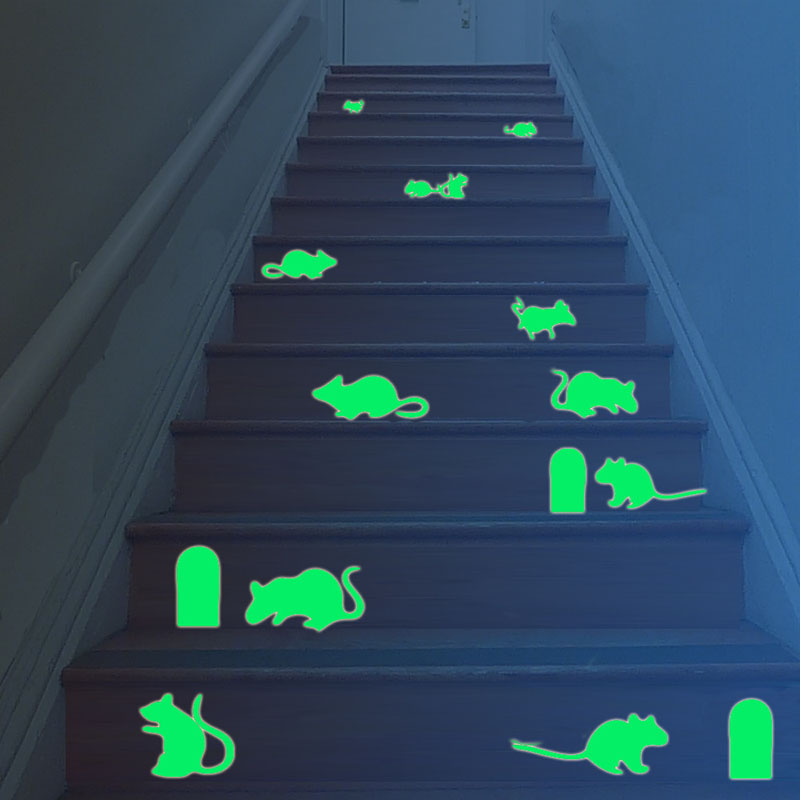 Luminous Fluorescent Mouse Holes Wall Stickers For Kids Room Glow In The Dark Ceiling Wall Art Decal DIY Light-emitting Sticker