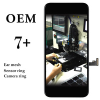 5pcs For iPhone 7 Plus LCD Display 5.5 Inch OEM No Dead Pixel Black White Touch Screen Assembly Smartphone Panel Replacement