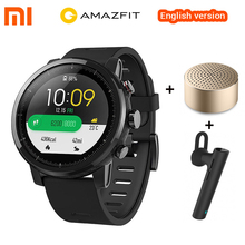 English Model Xiaomi Amazfit Stratos 2 Huami Amazfit Tempo 2 Good Watch GPS 5ATM Waterproof Smartwatch For Xiaomi iOS Android