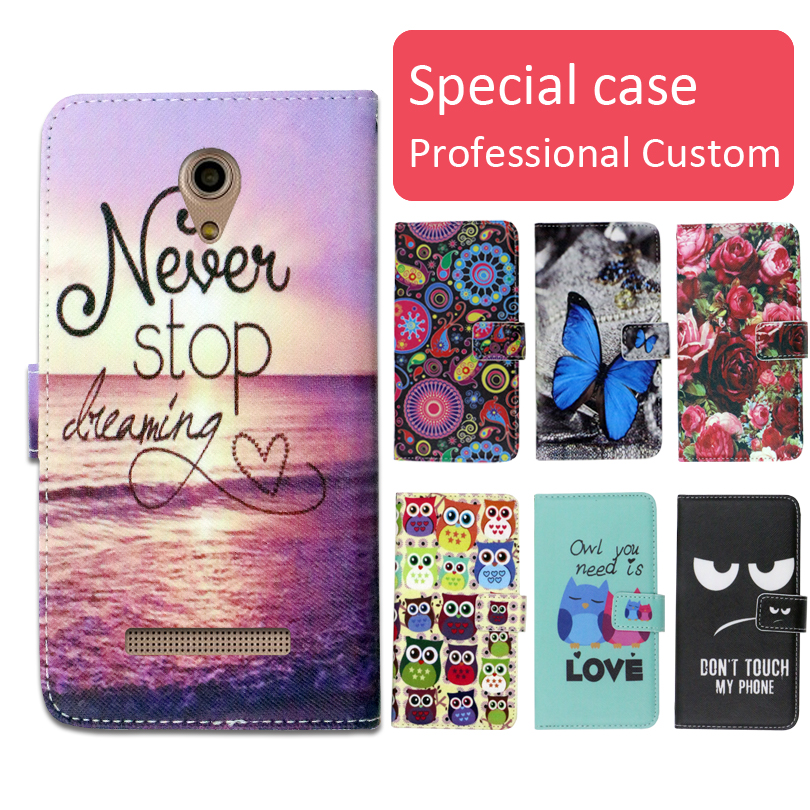 Fashion cartoon printed flip wallet leather case for <font><b>Micromax</b></font> Bolt <font><b>Q402</b></font> Pace phone bag book case,free gift image