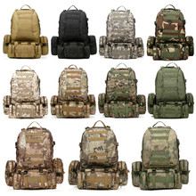 Free Shipping 11 Colors Large 50L Molle Assault Tactical Military Rucksacks Backpack Camping Bag Sport Outdoor Bags Dropship