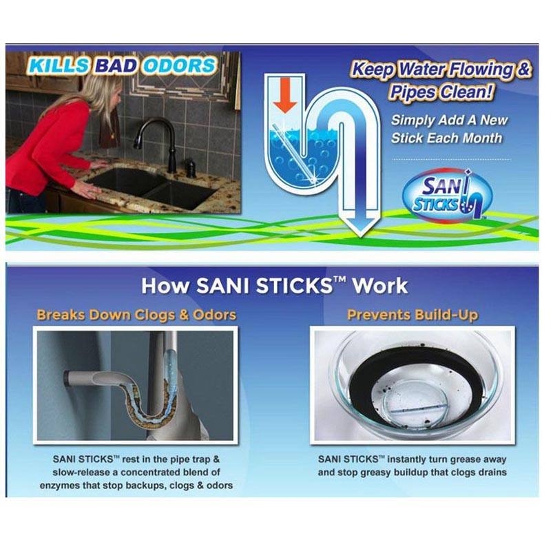 Sani Sticks Sewage Decontamination Deodorant Drain Pcs