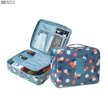 HMUNII Brand Man Women Makeup bag Cosmetic bag beauty Case Make Up Organizer Toiletry bag kits Storage Travel Wash pouch Neceser