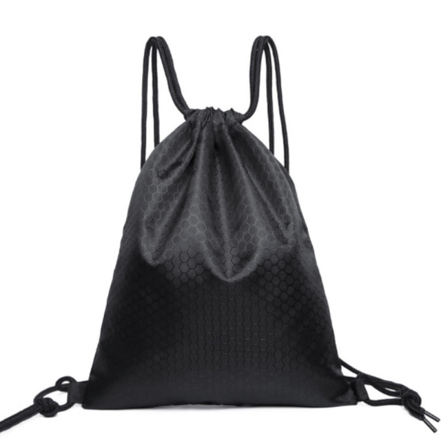 Black Polyester Drawstring Bag String Sack Beach Women Men Travel Storage  Package Teenagers Drawstring Backpack f31175741