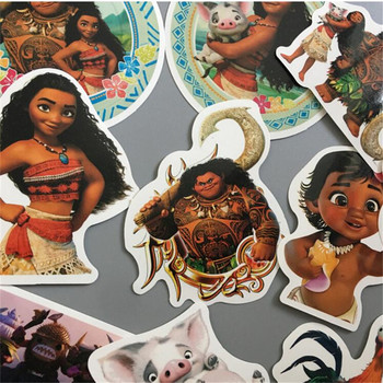 Fun Moana Stickers Boneca Sticker Vaiana 100 Pcs/bag Decal For Car Laptop Bicycle Motorcycle Notebook Waterproof Wall