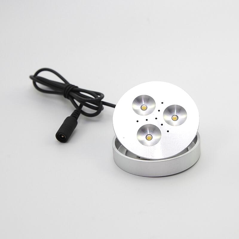 Kitchen Under Cabinet Counter Led Lighting Free Shipping: Free Shipping 3X3W Under Cabinet Lamps LED Downlights Puck