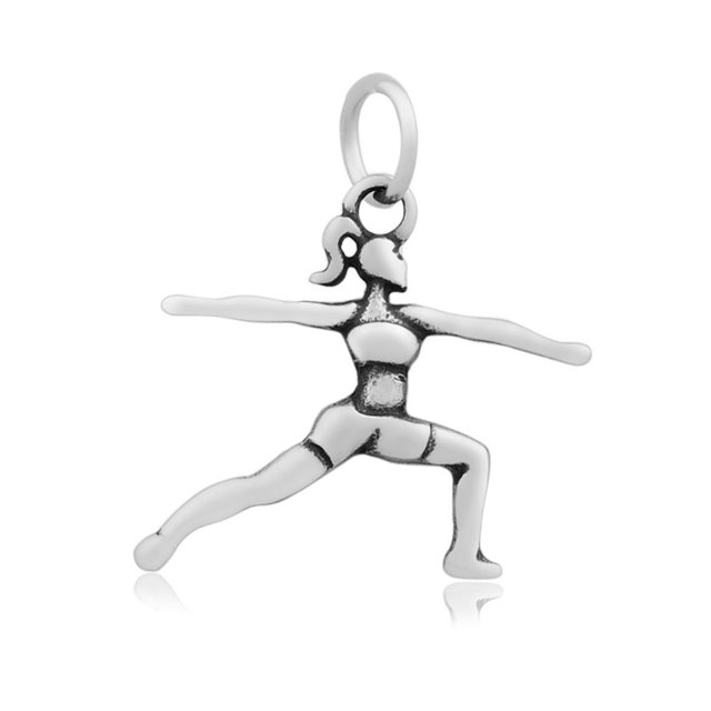 20pcslot 23x26mm stainless steel yoga girl charms pendants for 20pcslot 23x26mm stainless steel yoga girl charms pendants for jewelry making diy handmade craft aloadofball Gallery