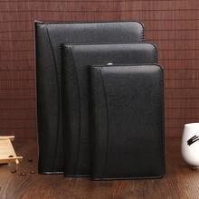 a5 b5 a6 spiral zipper leather travel journal agendas planner daily memos notebook manager bag handbag financing organizer 1086