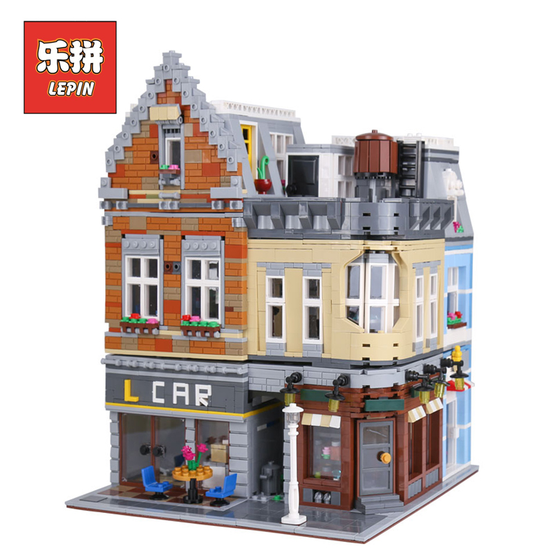 lepin 15034 Genuine MOC Series the New Building City House Set Building Blocks Bricks Educational Children Toy Gift lepin House dhl lepin 02020 965pcs city series the new police station set model building set blocks bricks children toy gift clone 60141