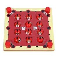 나무 메모리 게임 몬테소리 아기 뇌 교육 인터랙티브 책상 장난감 동물 어린이 교육 장난감 어린이 크리스마스 생일 선물
