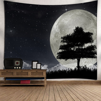Universe Space Tapestry Night Sky Forest Wall Tapestry Bedroom Hanging Decorative Curtain Fabric Fashion Home Cloth Adornment