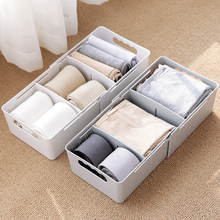 3 Grids Pull Type Wardrobe Storage Box Basket Organizer Women Men Socks Bra Underwear Storage Box Plastic Container Organizer
