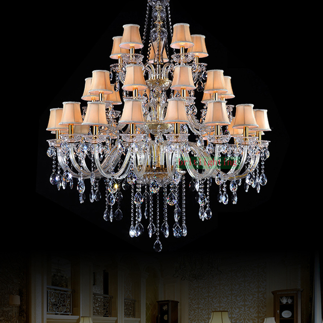Fashionable Luxury Chandeliers Lighting Maria Theresa Crystal Classic Candle Holder Glass Crystals For
