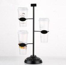 Milk tea shop Cola cup display stand rack Kitchen Mug Storage Rack coffee paper cup beverage cup plastic cup display holder rack