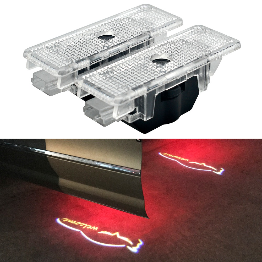 2pcs Car Door LED Logo Projector Ghost Shadow Laser Courtesy Warning Light For BMW X5 E53 E39 528i DC12V 5W logo light