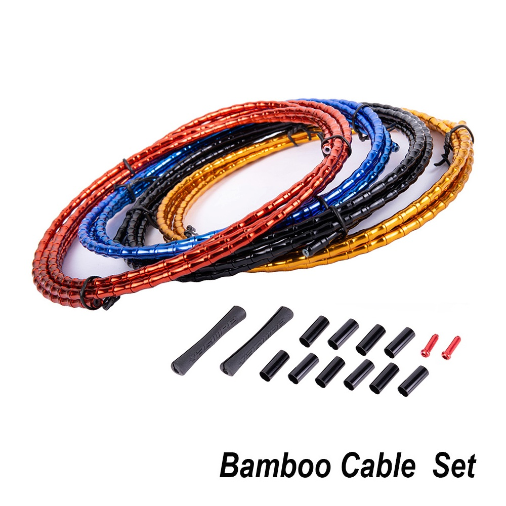 Bamboo Cable Set Bicycle Brake Line Cover Elite Aluminum Alloy Links MTB Floding Mountain Road Bike Shift Cable Hose 1800mm Tube