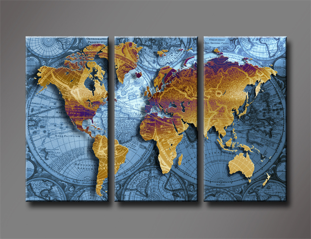 Aliexpress buy hd canvas prints modern map t 3 panels unframed hd canvas prints modern map t 3 panels unframed oil painting home decoration living room gumiabroncs Image collections