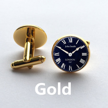 New London cufflinks, see twins round Dome steampunk, vintage jewelry painting watch children pa