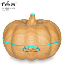 FEA Essential Oil Diffuser 600ml Ultrasonic Humidifier Aromatherapy Diffuser with Cool Mist & Color Change LED light, Wood Grain