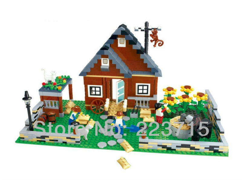 Free Shipping!*Happy Farm set 1* DIY enlighten block bricks,Compatible With other Assembles Particles