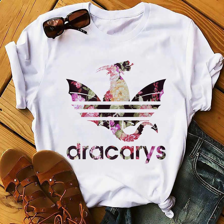 Daenerys ドラゴン Camiseta Dracarys 面白い Tシャツメンズ夏新白カジュアル得たユニセックス Tシャツクール原宿ストリート着用 Tシャツ