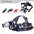 2*18650 Batteries+Top Quality 6000 Lumens t6headlamp lantern 3xCREE XM-L T6 LED Flashlight Head Torch To Head Power by 18650