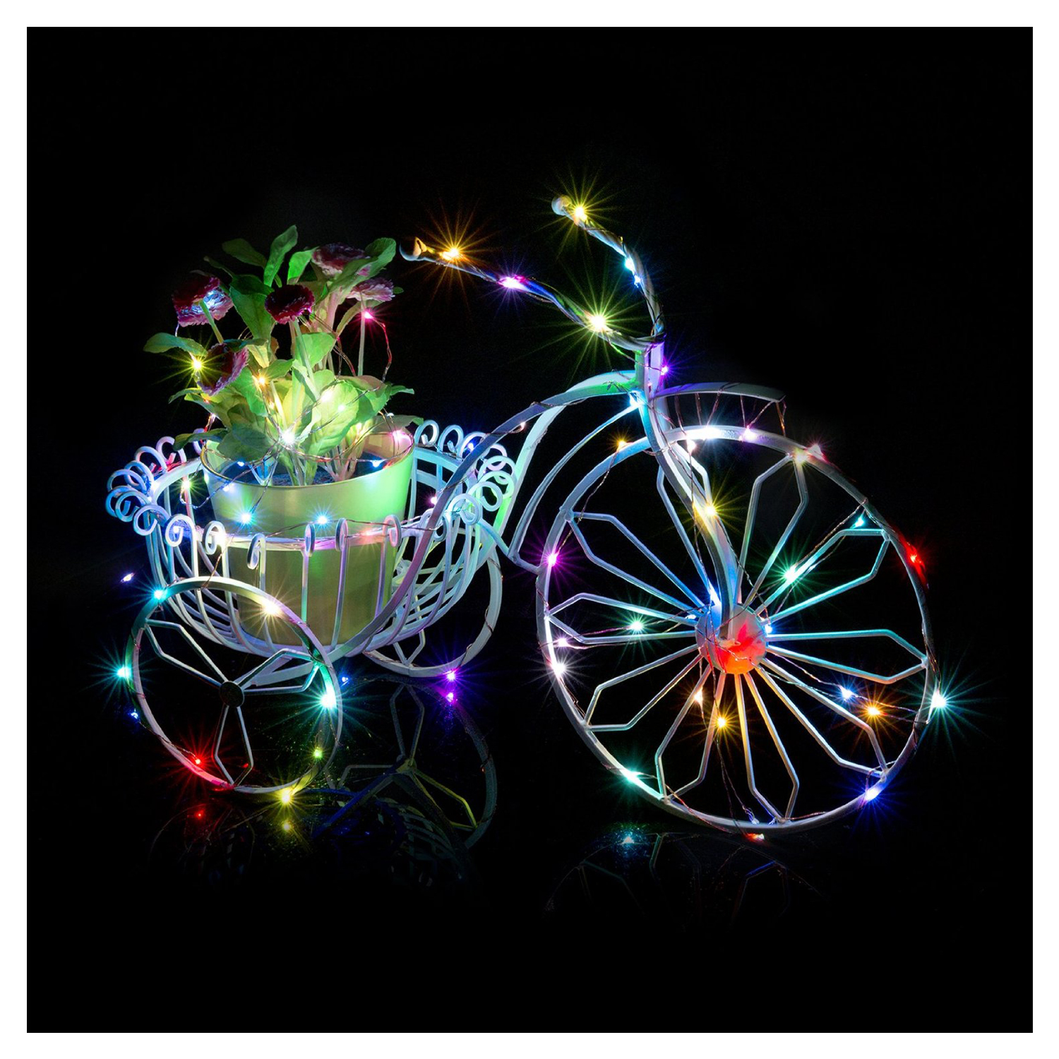 LED String Light Copper Wire Bedroom LED Fairy Starry Lights for Garden Path Christmas Tree Decora(20 LEDs, Colorful, 7FT)