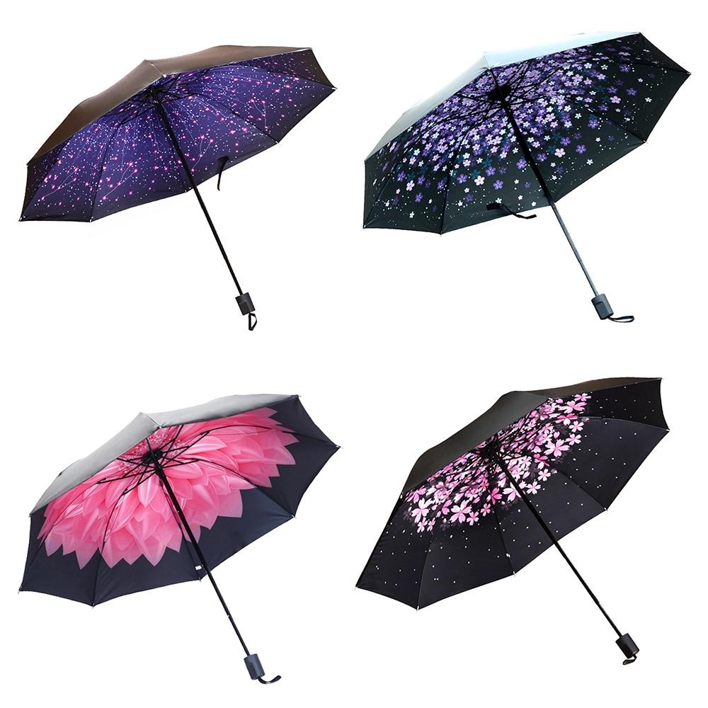 Large 10K Umbrella Men//Women Three Folding Anti-UV Windproof Rain Resistant