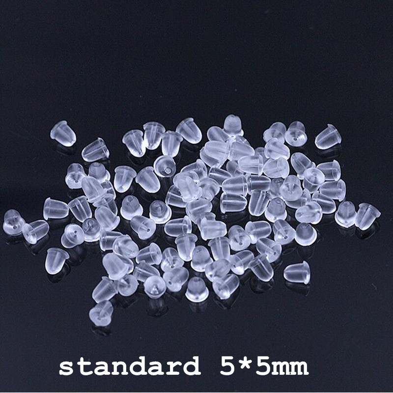 100 pieces / piece new cheap jewelry DIY <font><b>earrings</b></font> jewelry accessories bullet plastic ear connection lock back image