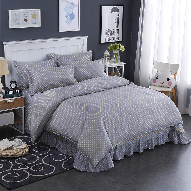 Modern Style Gray Dotted Star Pattern Bedding Home Textiles 1Pcs Duvet Cover Quilt Cover Bedspread 3 Size Super Soft Comfortable