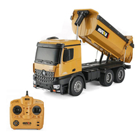 HUINA Toy Rc Drum truck Hopper truck Model with 10 function 10 Channel 2.4GHz Remote control car Gift for Children