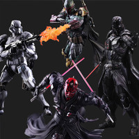 Star Wars Action Figure Play Arts Kai Boba Fett Darth Vader Stormtrooper Maul Collectble Model Toy