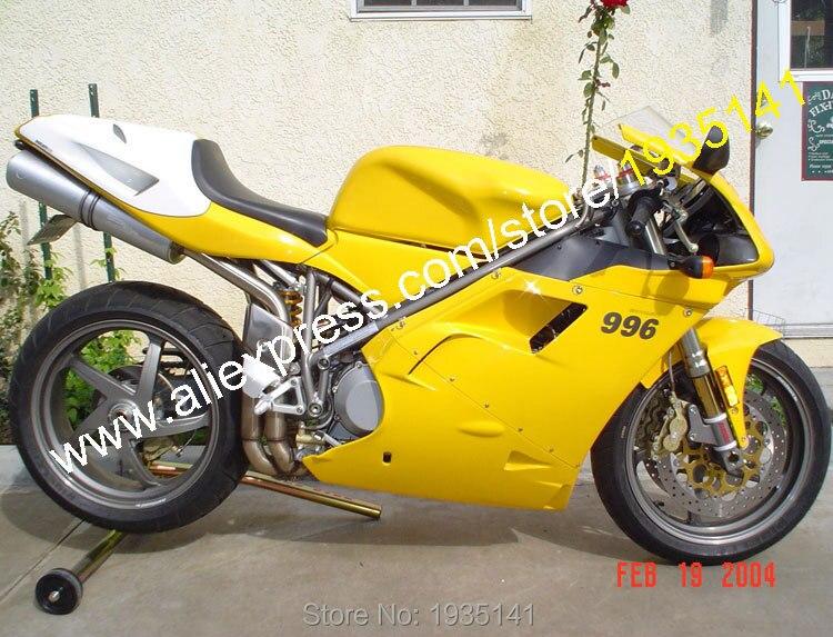 Para ducati 996 748 96-02 abs kit corpo 1996-2002 amarelo preto aftermarket kit carenagem da motocicleta (moldagem por injeção)