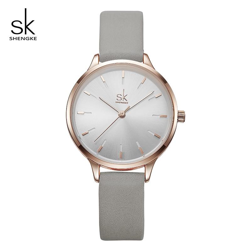 Shengke Fashion Watches Women Leather Wrist Watch Reloj Mujer 2019 SK Luxury Ladies Quartz Watch Women's Clock Montre Femme
