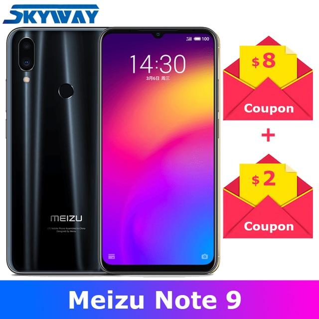 "Original Meizu Note 9 Note9 4G LTE 4GB 64GB Snapdragon 675 Octa Core 6.2"" 2244x1080p Screen 48.0mp Camera Fingerprint Cell Phone"