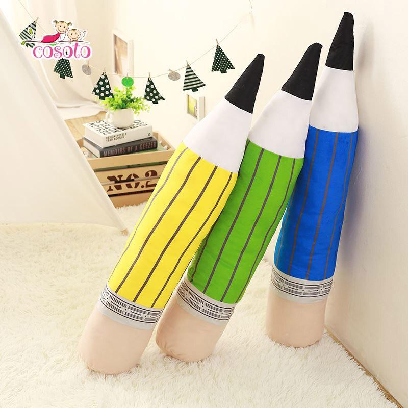 85 см творческий карандаш Подушка Красочные перо ткань кукла Детские подушки Подушки сна подарок на день рождения