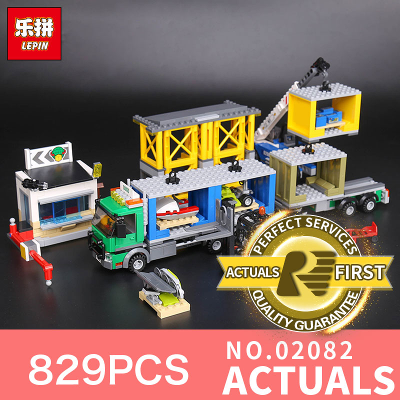 829Pcs Lepin 02082 City Series The Charge Terminal Set Building Blocks Bricks Educational Toys Model for Children Gifts 60169 a toy a dream lepin 02043 718pcs building blocks bricks new genuine city series airport terminal toys for children gifts