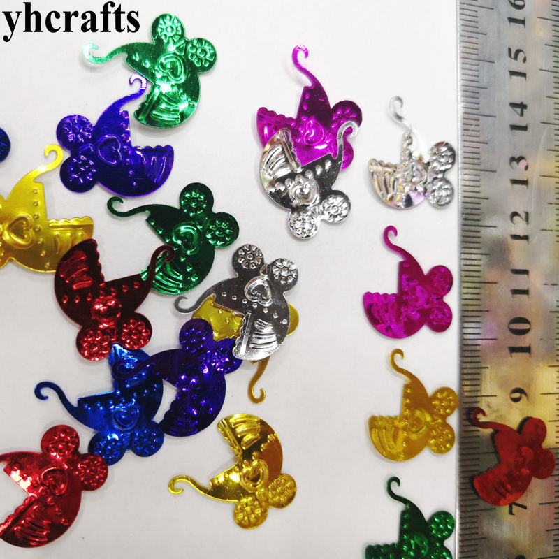 20gram/Lot Baby Car Sequins.Craft Material Kindergarten Arts And Crafts Kids Shoe Decal Intelligence Creative Activity Item OEM