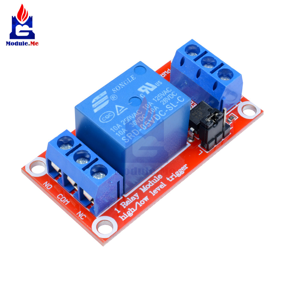 One 1 Channel 5V Relay Module Board Shield With Optocoupler Support High And Low Level Trigger Power Supply Module For ArduinoOne 1 Channel 5V Relay Module Board Shield With Optocoupler Support High And Low Level Trigger Power Supply Module For Arduino