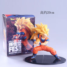 FES De Dragon Ball Z Super Saiyan Goku PVC Action Figure Model Collection Toy 20 cm(China)