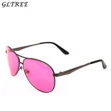 GLTREE 2018 Spectacles Red Green Color Blindness Women Men Glasses Correction Colorblind Card Sunglasses New Drivers Eyewear G7